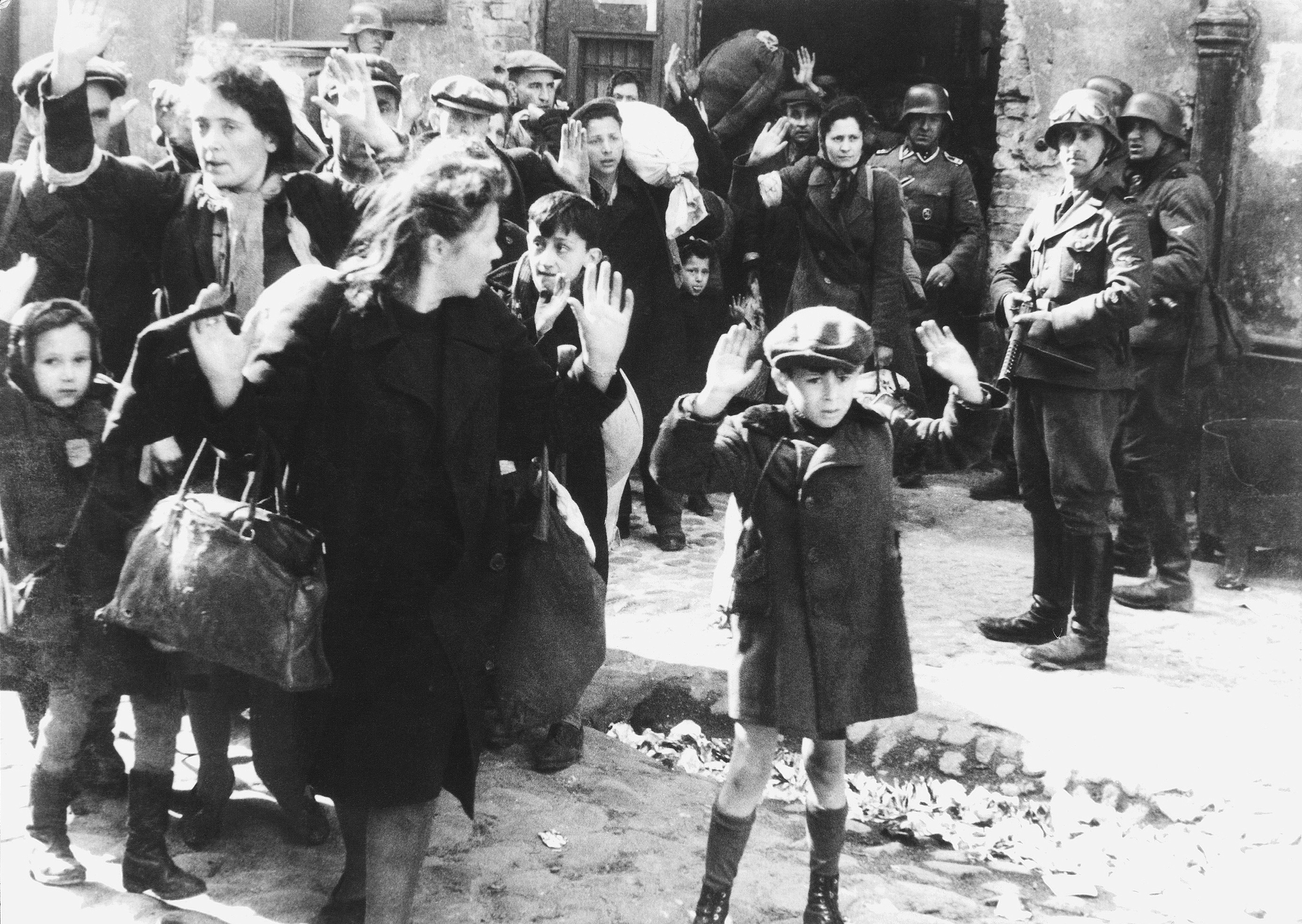 Fotografia je z Varšavského geta.